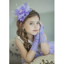 Митенки сиреневые кружевные на девочку Неженка (3-7 лет)