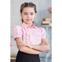 """Блузка розового цвета с рюшами """"Дина"""""""