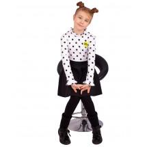 """Платье для девочек с длинным рукавом """"Черный горох"""""""