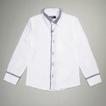 Рубашка для мальчиков белого цвета с контрастной окантовкой