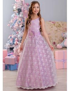 Платье нарядное в пол сиреневое Констанция