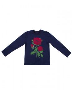 """Джемпер для девочек синего цвета """"Три розы"""""""
