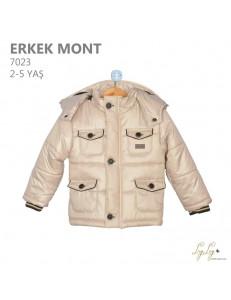 Куртка весенняя для мальчиков бежевого цвета Lay Lay