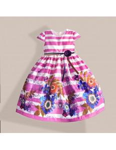 """Платье нарядное в малиновую полоску """"весенний вальс"""""""