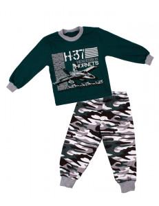 Пижама детская с длинным рукавом истребители
