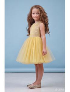 """Платье нарядное золотистого цвета """"Мари"""""""