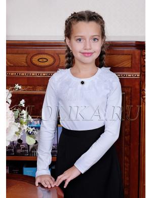 """Блузка для девочек белого цвета """"Джемма"""""""
